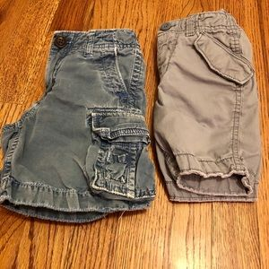 2 Pairs of Baby Gap Weathered Chino Shorts